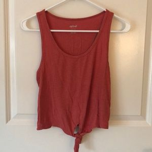 NWT Aerie orange tie front tank